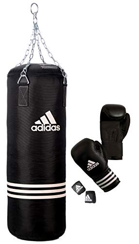 adidas Set de boxeo (guantes + saco), color negro