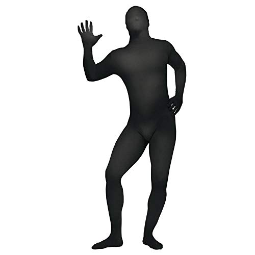 Socken Schiedsrichter Kostüm - Skin Suit Black Teen/Adult Costume Small