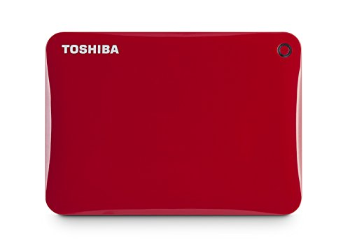 Toshiba Canvio Connect II Externe Festplatte 1000 GB Rot - Externe Festplatten (1000 GB, 3.0 (3.1 Gen 1), 5400 RPM, Rot) -