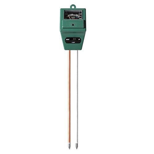 """Preisvergleich Produktbild XCSOURCE 3 in 1 Erd Tester mit 8"""" 200mm Tester Messung Boden Feuchtigkeit, Lichtintensivität, Boden pH Wert für Pflanzen HS433"""