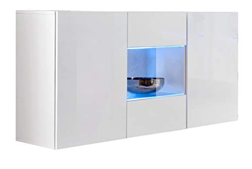 muebles bonitos – Aparador Colgante de diseño Varedo Blanco 120cm