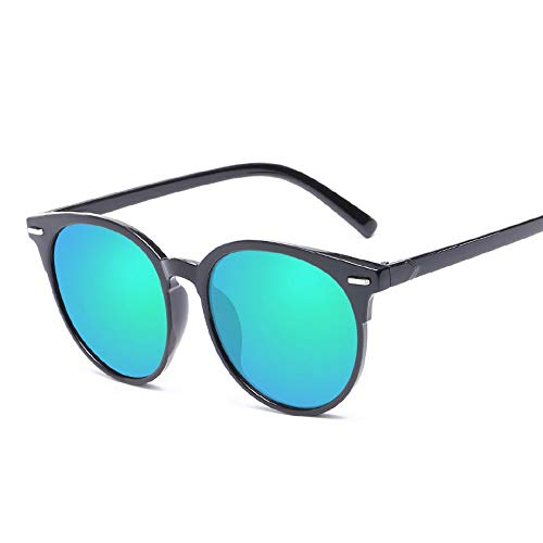 Sonnenbrille,Unisex Sommer Sonnenbrille Cat Eye Sonnenbrillen Für Frauen Männer Outdoor Schattierungen Black Frame Brille Schwarz Grün