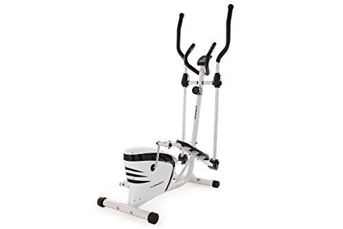 KS Cycling Vélo elliptique Blanc/Noir