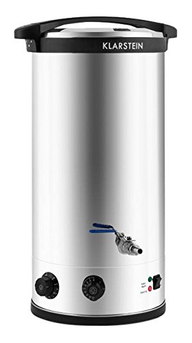 Klarstein Beerfest Brasseur 30L Dispensador de cerveza de barril - Tirador de cerveza (5,6 kg, 670 x 370 x 400 mm, 2500 W)