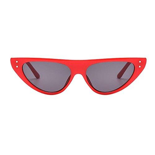 Occhiali da sole donna moderni fashion a specchio occhio di gatto lenti polarizzate retrò vintage peso gatto unisex occhiali da sole rapper ovale ombre grunge occhiali (b)