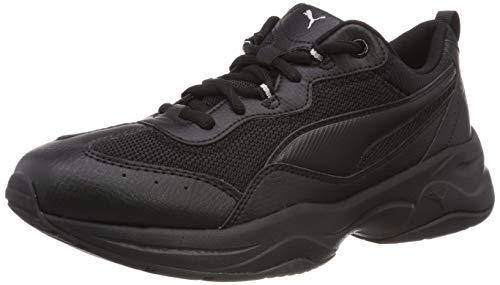Puma Damen Cilia Sneaker, Schwarz (Puma Black-Puma Silver-Peach Bud), 38.5 EU