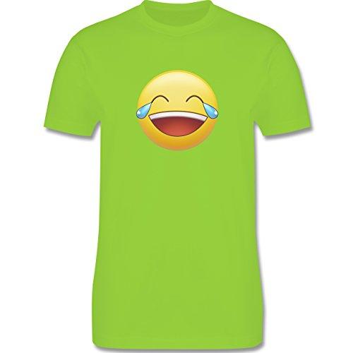 Statement Shirts - Tränen Lachen - Emoji - Herren Premium T-Shirt Hellgrün