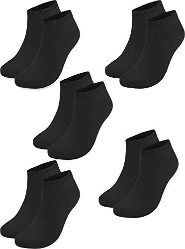 20 Paar Sneaker Socken für Sie und Ihn - Viele Trendige Farben und Größen 35-50 wählbar! - Qualität von normani Farbe Schwarz Größe 48/50