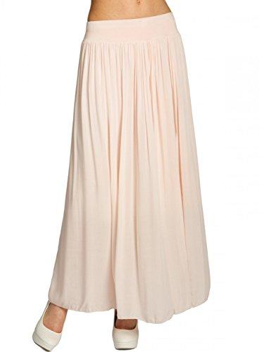 CASPAR RO012 Leichter Langer Damen Sommerrock, Größe:One Size, Farbe:rosa