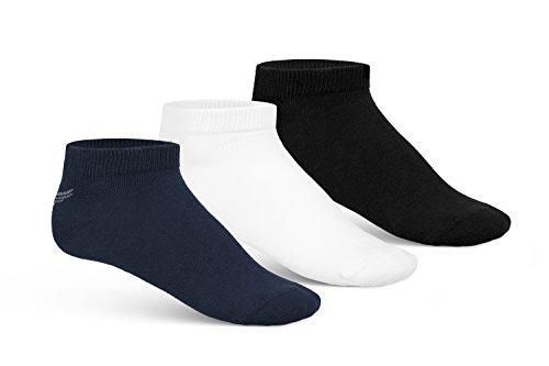 3 Paar TAYLOR PHOENIX High-Class Sneaker Socken für Damen und Herren (3-Farben Packung, 47/50) (Hose Farbe Socken)