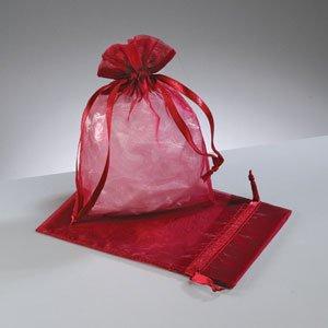 15 Bourgogne Rouge bijoux mariage Sacs Organza 18 x 24 cm cm