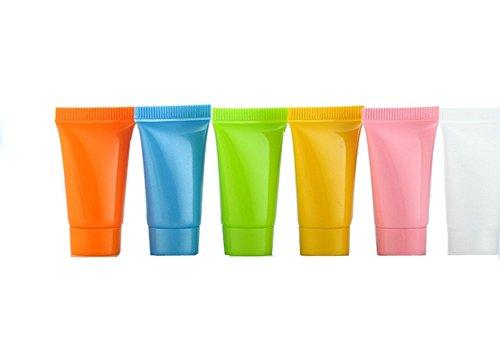 20Stück 5ml Mini Colorful leer BB Cream Lip Gloss Balm Container Soft Tubes Make-up-Box (zufällige Farbe) -
