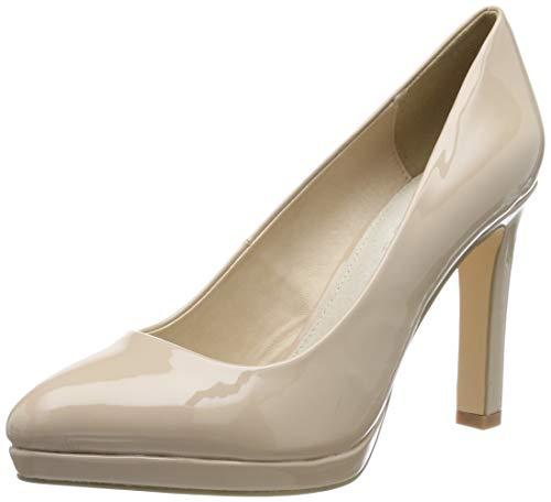 Buffalo H748-1 New, Zapatos Tacón Mujer, Beige Nude