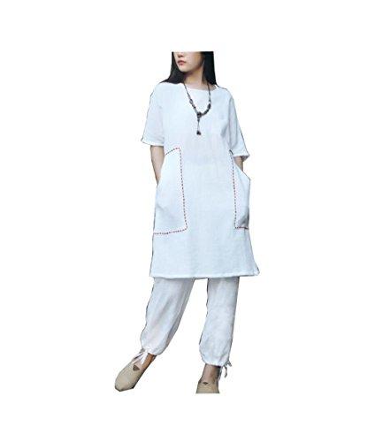 CHLXI Yoga Kleidung Anzüge Ärmel große Yards Meditation Service legt Anzüge Meditationskleider Kleider