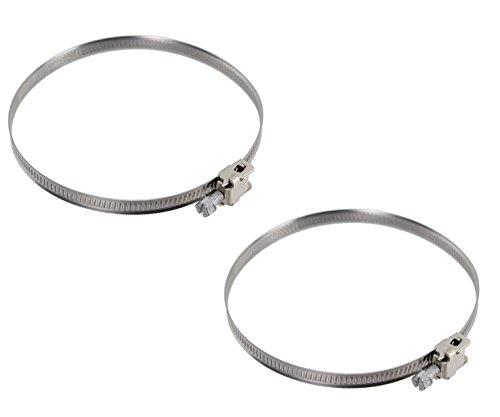 Invero® Paar Schlauch Clip Luftführung Klemme Sicherer Bands für flexible Schlauch Rohr Rohr-Durchmesser: ca. 90-110(mm) -