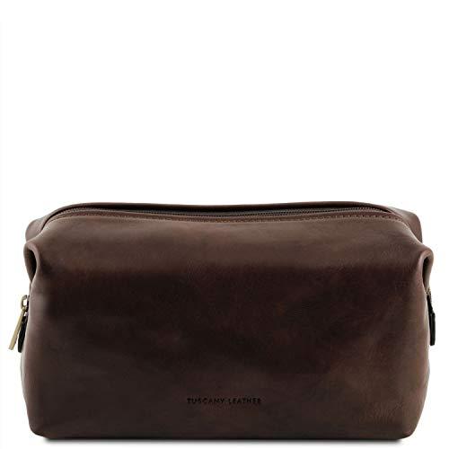 Tuscany Leather Smarty Beauty case in pelle - Misura piccola Testa di Moro
