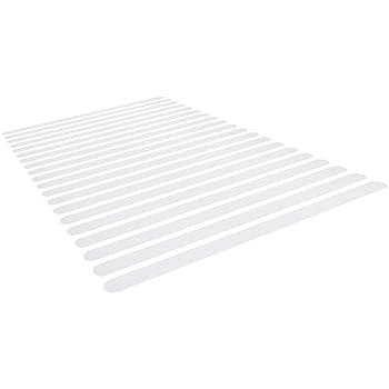 Nastri 2x45cm in PVC Trasparente Navaris Strisce Antiscivolo per Scale Doccia Set 8X Fasce autoadesive Anti Scivolo per Vasca da Bagno Piscina