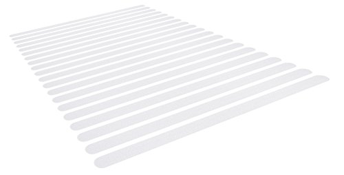 20x Anti Rutsch Streifen für Treppen und Bad. Transparente und selbstklebende Antirutsch Klebestreifen für Dusche und Badewanne