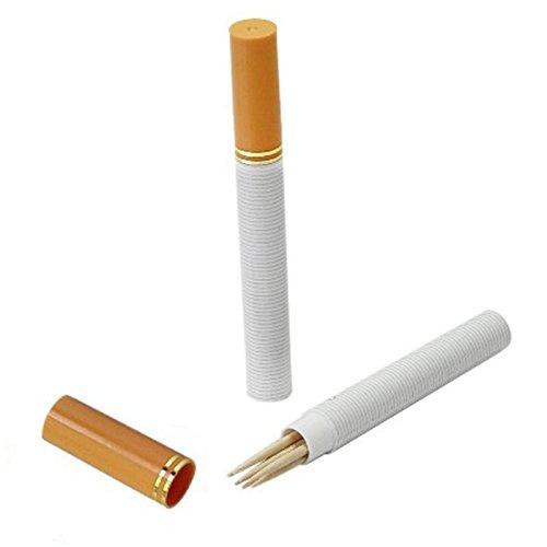 Wlgreatsp 2 Confezioni di Supporto Creativo stuzzicadenti Forma di Sigaretta stuzzicadenti Dispenser Kit da Viaggio Portatile stuzzicadenti Caso Ragazzo Regalo