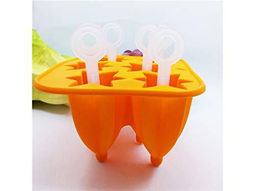 Moule à biscuits Moules à glaçons Star Moules à glaçons Boîtes à glaçons Jelly Maker Plateau (Orange)