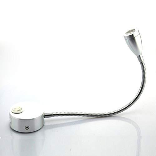 CHNG Leselampe LED-Bettleuchten Für Die Wandmontage,Schwanenhals Bettleuchte Touch Switch mit Netzteil Bettlampe Ideal für Sofa Nachttisch Arbeitszimmer Wohnzimmer Schlafzimmer(Warmweiss) -