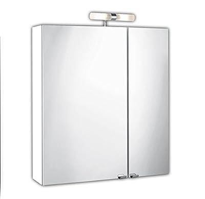 Posseik 5429-76 Spiegelschrank 2-türig, 60 x 68 x 16 cm, weiß