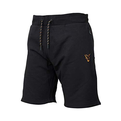 Fox Collection Black Orange LW Shorts - kurze Angelhose für Karpfenangler & Wallerangler, Kurzehose, Sporthose, Hose für Angler, Größe:XL