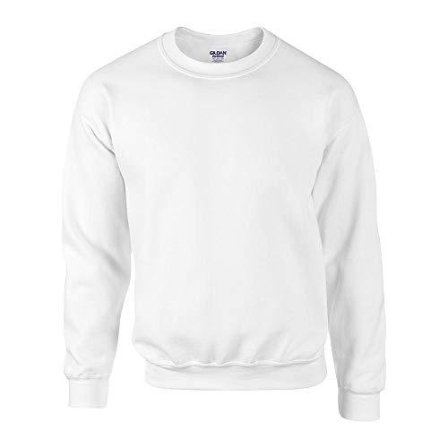 Gildan - DryBlend Crewneck Sweatshirt 'Set in Sweat' M,White - Gildan Crewneck Sweatshirt