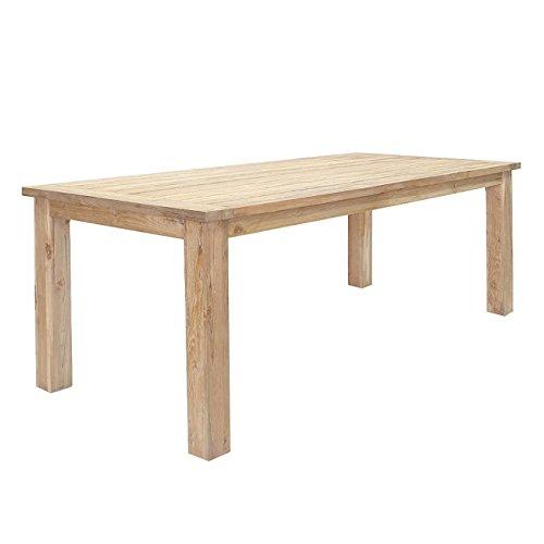 OUTLIV. Gartentisch massiv Teak-Holz Oxford Terrassentisch 220x100cm Massivholz-Tisch wetterfest Esstisch Holztisch rustikal Outdoor Tisch