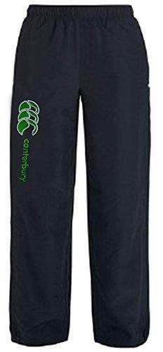Junior Jog Pant (AW14 Open Hem Kids Stadium Pant - Black/Green)