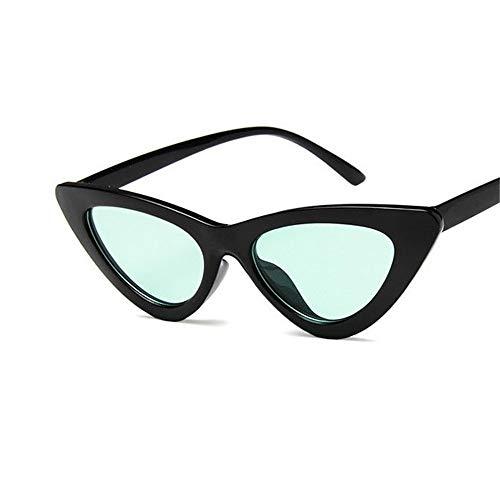 WUNDEPYTYJ Sonnenbrille Unisex Polarisierte Retro Driving Metal Frame Ultraleichte Sportbrille,Helles Schwarz und Grün