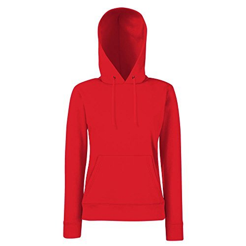 Fruit of the Loom - Lady-Fit Hooded Sweat XS,Red Red Womens Hoodie