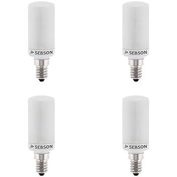 SEBSON® 4 x Ampoules LED 3.8W (remplace 35W) - Culot E14 - Angle du faisceau 160° - Blanc chaud - 360lm