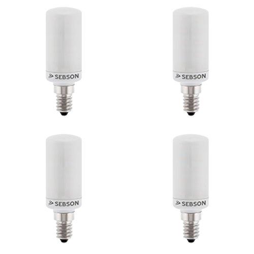 SEBSON LED Lampe E14 warmweiß 4W, ersetzt 40W Glühlampe, 360 Lumen, E14 LED matt, LED Leuchtmittel 160°, 4er Pack 160 Lumen Led