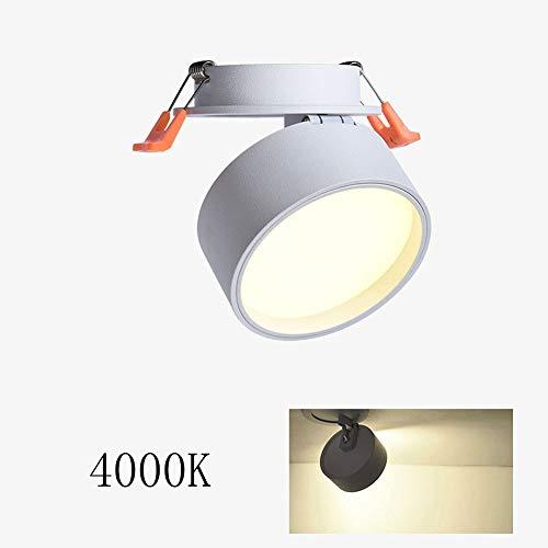 3W LED drehbare Einbau-Downlights Ultra Slim Winkel verstellbare Deckenleuchten Anti-Blend-LED-Strahler for Badezimmer Wohnzimmer Küche (Color : White-4000k) (Quecksilber-glas-badezimmer-set)