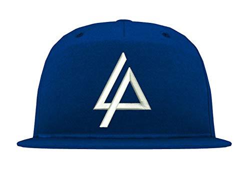 Youth Designz 5 Panel Snapback Cap Modell Linkin Park, Weiß-Royalblau, B610