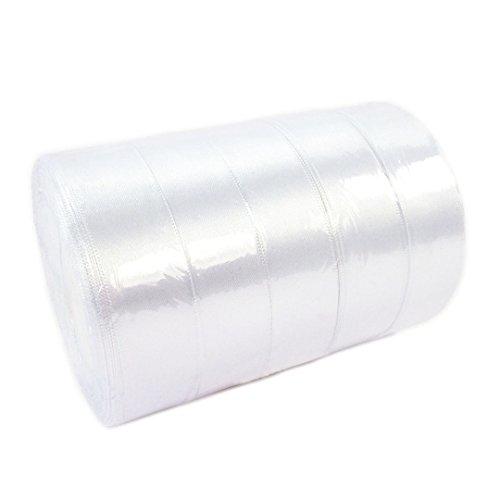 Pack ahorro 5rollos cinta raso blanco blanco lazo