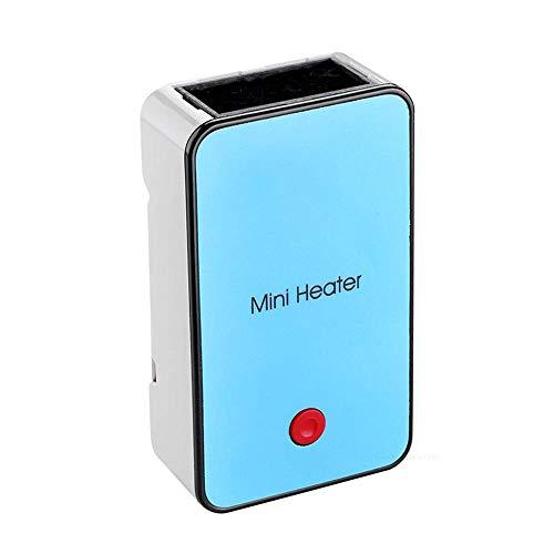 CDSS Mini-Heizungs Ventilator,Schlafsaal Büro Aufladen Handheld USB Kleine Tragbare Heizung,Blue