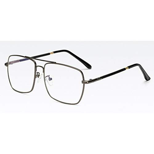 ZRTYJ Sonnenbrillen Gefälschte Brillenfassungen Frauen Vintage Mode Übergroße Quadratische Korea Brillengestell Männer Klare Brillen Gold