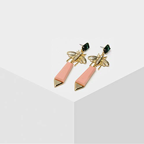 Mode Bienen Insekt Ohrringe rosa Ohrringe