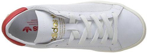 adidas Court Vantage, Baskets Basses Mixte Adulte Blanc (Footwear White/Footwear White/Red)