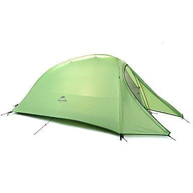 1 Person-Zelt-Doppelt-Camping-Zelt-Im Freien Falten Zelt-Tragbare Regen-Beweis Faltbare Jahreszeit 4 Für Das Kampieren Im Freien,Green