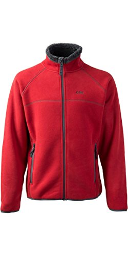 Gill Mens Polar Fleece Jacket in RED 1700 Size-- - Large
