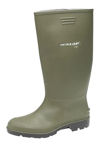 LADIES GREEN DUNLOP WELLINGTON BOOTS UK6