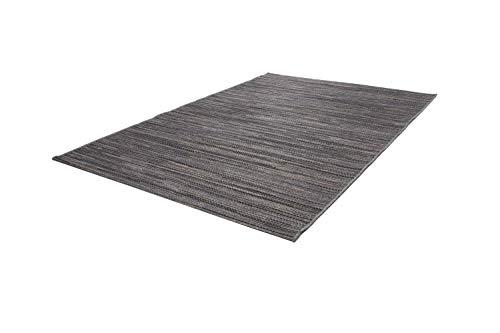 One Couture Teppich Sisal Optik Indoor Outdoor Streifen Design Geflochten Grau Braun Schwarz, Größe:120cm x 170cm - Chenille Streifen-teppich