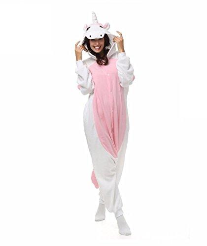 WRH Kigurumi Pyjamas Einhorn Turnanzug/Strampler Halloween Tier Nachtwäsche Pink Patchwork Polarfleece Kigurumi UnisexHalloween/Weihnachten, xl