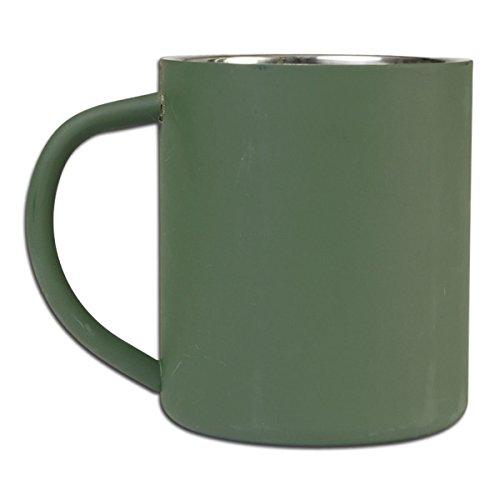 BKL1® Trinkbecher oliv 450 ml Isoliert Warmhaltebecher Edelstahl Camping Jagd Angeln Outdoor 1578