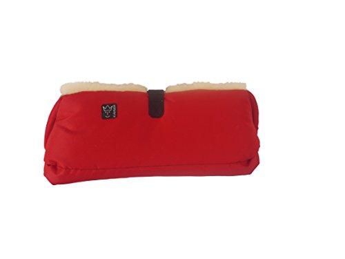 kaiser-big-double-chauffe-mains-peau-dagneau-nature-rouge