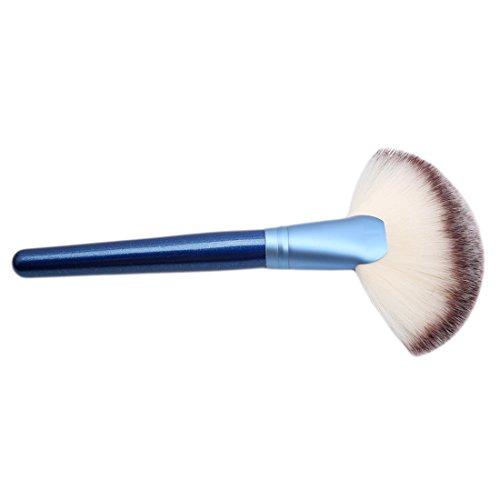VWH Make-up Pinsel Professionellen Synthetisch Foundation Grundierung Bürsten für Lidschatten Augen und Gesicht (blau)