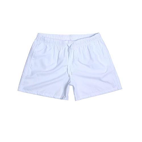 Mengyu Costume da Bagno Pantaloncino per Uomo Spiaggia Mare Piscina Bianco M